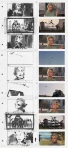 The Birds Filmi - Storyboard örneği